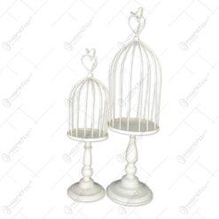 Set 2 colivii realizate din metal - Design Elegant (Pentru decoratiuni) (Model 2)
