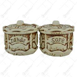 Set pentru condimente realizat din ceramica - Inscriptionat