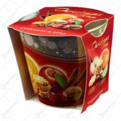 Lumanare parfumata in pahar de Craciun - Christmas Time - 2 arome