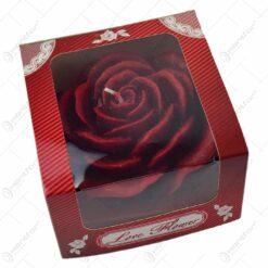 Lumanare decorativa in forma de trandafir - 2 modele