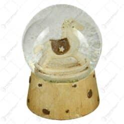 Glob  de zapada pentru Craciun realizat din sticla - Design Cal (Model 1)