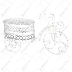 Suport pentru flori realizat din metal in forma de bicicleta - Diverse modele (Model 2)