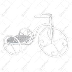 Suport pentru flori realizat din metal in forma de bicicleta. cap. 1 ghiveci (Model 6)