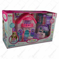 Castel cu mobilier pentru copii realizat din plastic
