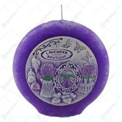 Lumanare parfumata in forma de disc cu aroma de lavanda - Lavanda Boutique