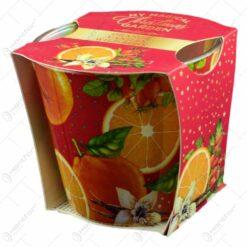 Lumanari parfumate in recipiente de sticla cu aroma de fructe specific sarbatorilor de iarna - Diferite modele