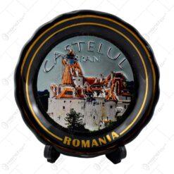 Farfurie decorativa realizata din ceramica - Design Romania-Castelul Bran - Diverse modele