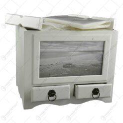 Album pentru fotografii realizat din lemn cu doua sertare - Design Elegant (Tip 2)