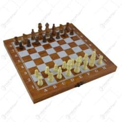 Joc sah/table realizat din lemn (Model 9)