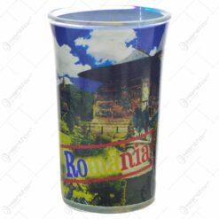 Pahar tip shot realizat din sticla - Design Romania (Model 1)