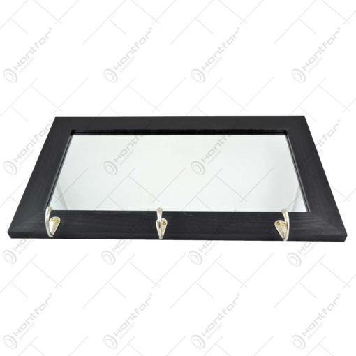 Oglinda cu rama dln lemn si cuier - 2 modele (20x40 CM)