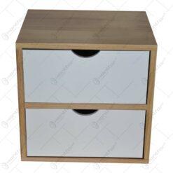 Dulapior cu doua sertare realizat din lemn (44cm)