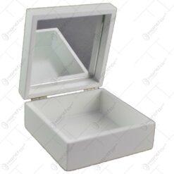 Cutie pentru bijuterii cu oglinda - Design vintage cu lavanda