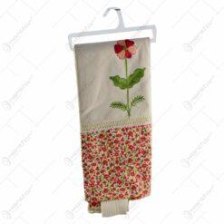 Perdea realizata din material textil - Design floral (Model 1)