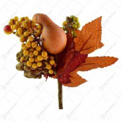 Pick decoratiune de toamna - Design cu frunze. bobite si dovlecei (Model 2)