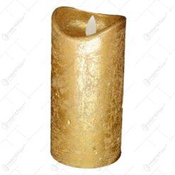 Lumanare cu led realizata din plastic - Auriu