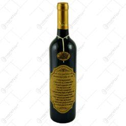 "Vin rosu 0.75l cu eticheta personalizata din pluta - Design ""Cele zece porunci..."""