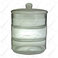 Bomboniera cu 3 nivele realizata din sticla