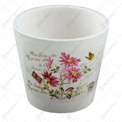 Ghiveci realizat din ceramica - Design cu flori - Diverse modele