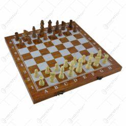 Joc sah/table realizat din lemn (Model 10)