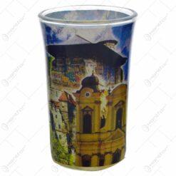 Pahar tip shot realizat din sticla - Design Romania (Model 2)