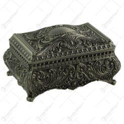 Cutie metalica pentru bijuterii - Design antic (Model 2)
