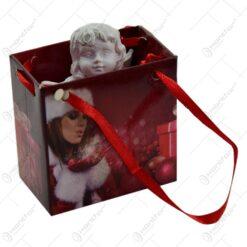 Figurina decorativa pentru Craciun realizata din rasina in cutie cadou - Ingeras - Diverse modele