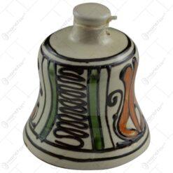 Clopotel din ceramica de Corund pictat cu motive populare