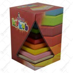 Jucarie educativa pentru copii din cuburi de lemn