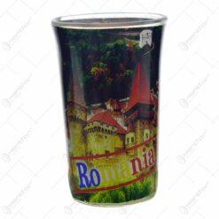 Pahar tip shot realizat din sticla - Design Romania (Model 3)