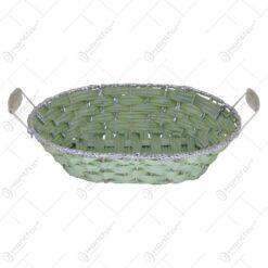 Cos pentru paine realizat din rachita - Turcoaz