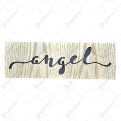 Decor cu led realizat din lemn - Angel
