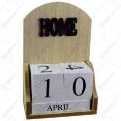 Calendar de birou realizat din lemn - Design Home (Model 1)