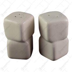 Set suport condimente din ceramica - Sare + Piper