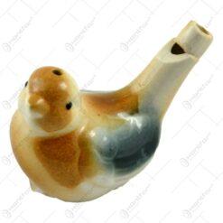 Fluier realizat din ceramica - Pasare (Model 3)