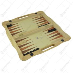 Joc sah/table realizat din lemn (Model 3)