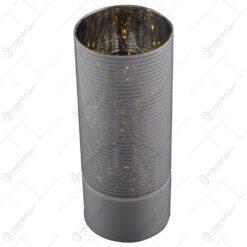 Veioza cilindrica realizata din sticla - Alb