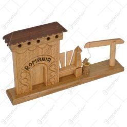 Poarta secuiasca sculptata realizata din lemn - 2 modele (Model 2)