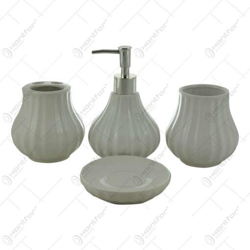 Set 4 accesorii pentru baie din ceramica- Diverse culori