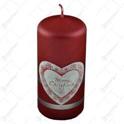 Lumanare craciun parfumata in forma cilindrica - Design Merry Christmas - Diverse modele - Mic