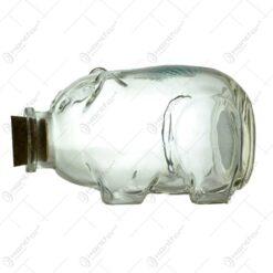 "Pusculita realizata din sticla - Porcusor - ""Pentru mici dorinte"""