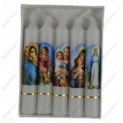Set 4 lumanari relizate in forma cilindrica - Design Religios