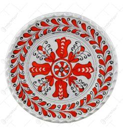 Farfurie pentru decor din ceramica cu margine ondulata. pictat cu motive populare - Diferite tipuri