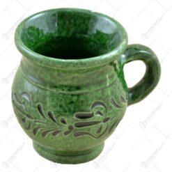 Cana realizata manual ceramica de Corund - Design Traditional - 2 modele
