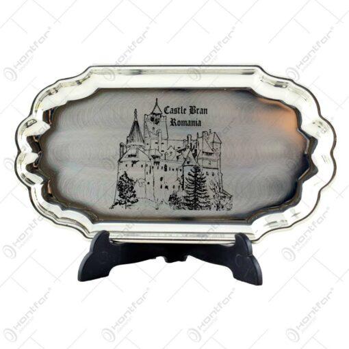 Tava eleganta cu decor gravat - Castelul Bran
