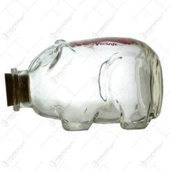 "Pusculita realizata din sticla - Porcusor - ""Pentru vacante"""
