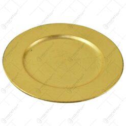 Farfurie intinsa pentru decor realizata din plastic - Auriu (Model 1)