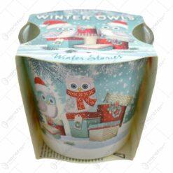 Lumanare parfumata in pahar de Craciun - Winter Owls