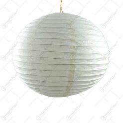 Lampion realizat din hartie - Alb (40 CM)
