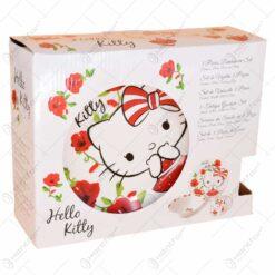 Set vesele realizat din ceramica - Design Hello Kitty